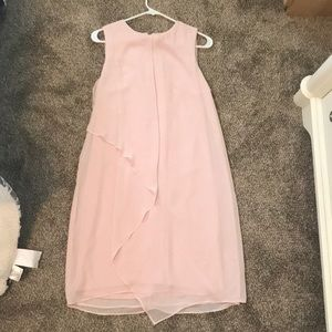 Light pink layered dress
